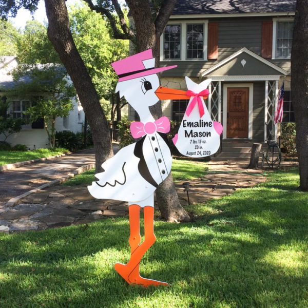 Pink Stork Sign for Rent, Columbus, OH