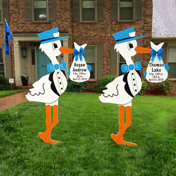 Twin Storks - Blue and Blue Signs for Rent, Columbus, OH